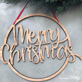 Generic Merry Chrismas hanging sign -  The Party