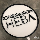 Customised congratulations cake topper -  The Party