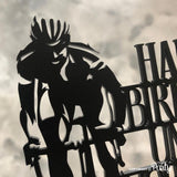 Customised cycling themed cake topper -  The Party