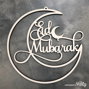 Generic Eid Mubarak hanging sign -  The Party