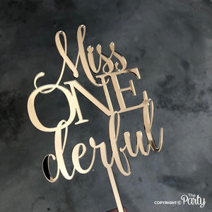Generic Miss ONEderful cake topper -  The Party