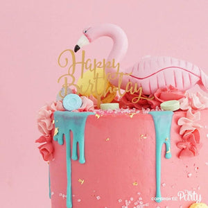 Generic Happy Birthday cake topper -  The Party