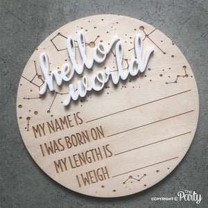 Generic birth announcement plaque -  The Party