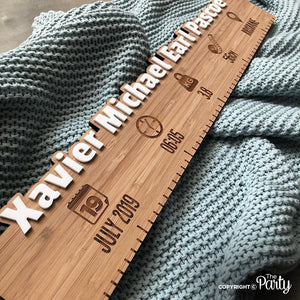 Customised bamboo birth board -  The Party
