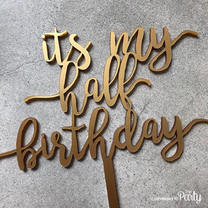 Generic half birthday cake topper topper -  The Party