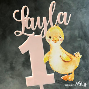 Customised duckling cake topper -  The Party