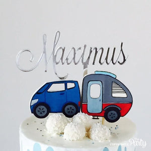 Customised name cake topper -  The Party