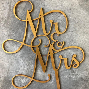 Generic Mr & Mrs cake topper -  The Party