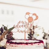 Generic Our adventure awaits cake topper -  The Party