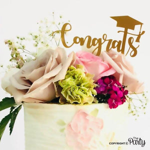 Generic Congrats graduation cake topper -  The Party