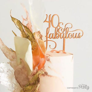 Generic 40 & Fabulous cake topper -  The Party
