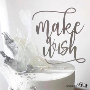 Floating Make a wish cake topper -  The Party