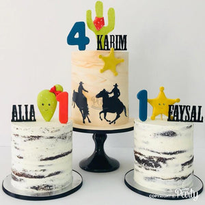 Customised name cake toppers -  The Party