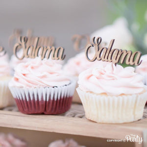 Customised name cupcake toppers -  The Party