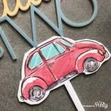 Customised vintage car cake topper -  The Party