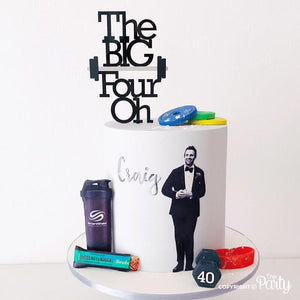 Customised BIG four OH cake topper -  The Party
