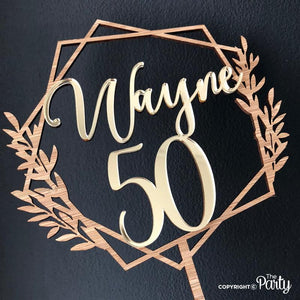 Customised 50th cake topper -  The Party