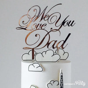 Generic We love you Dad cake topper -  The Party