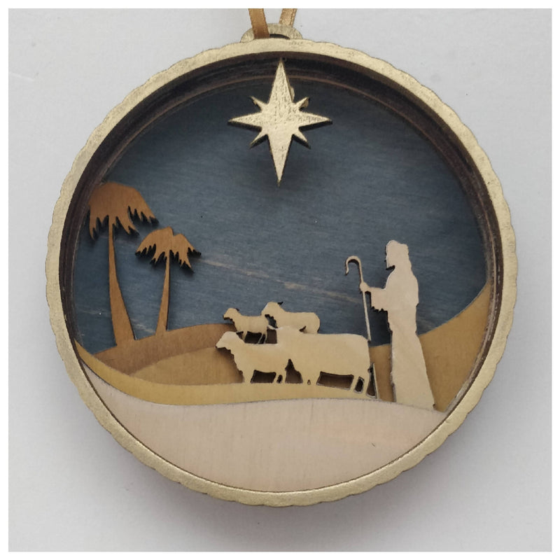 Christmas Nativity - Shepherd Bauble