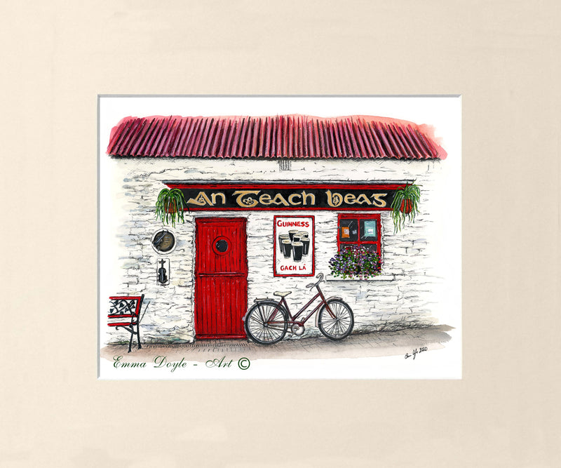Irish Pub Print - An Teach Beag