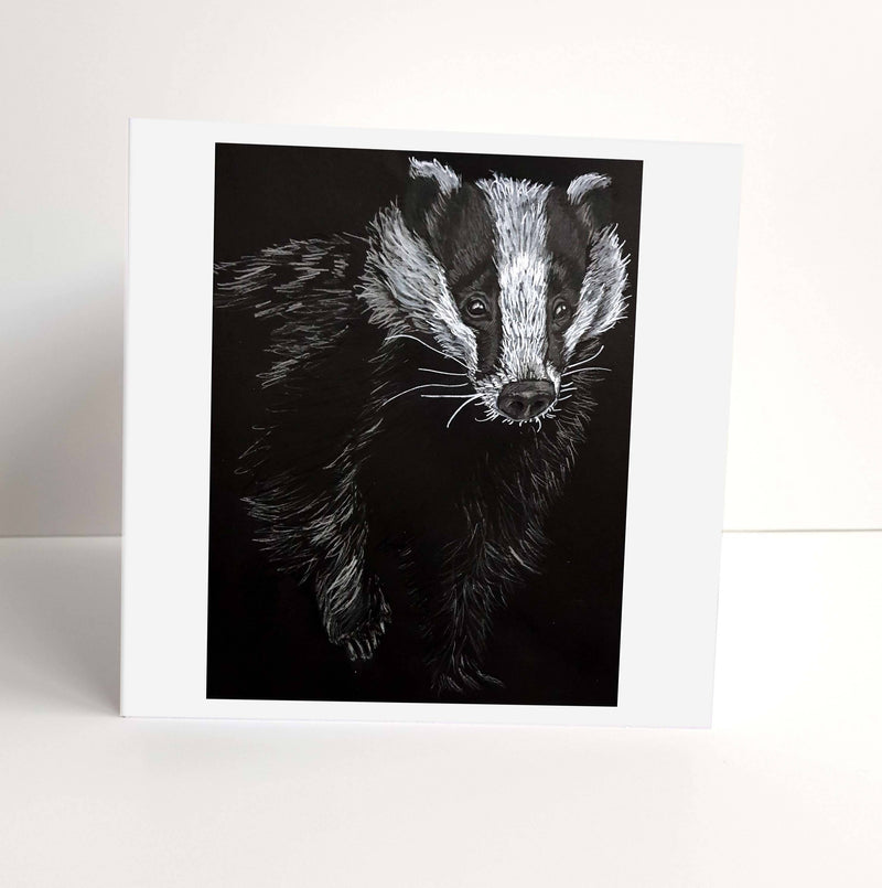 Badger Greeting Card. Blank inside.