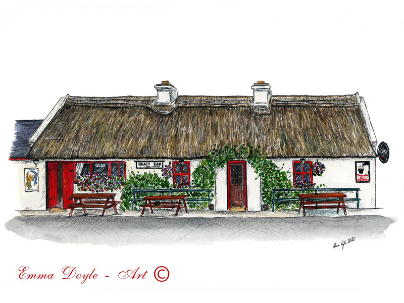Irish Pub Print - The Beach Bar, Aughris, Co. Sligo