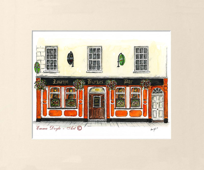 Irish Pub Print - Burke's Bar, Carrick-On-Shannon, Ireland
