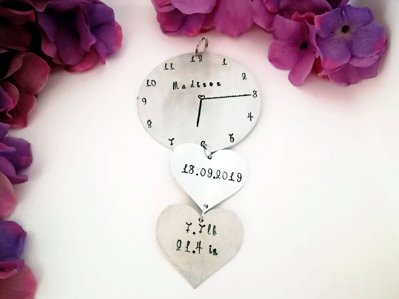 Baby/Birth Memorial Clock Ornament - Made to Order