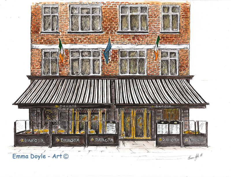 Irish Pub Print - Dakota, Dublin, Ireland