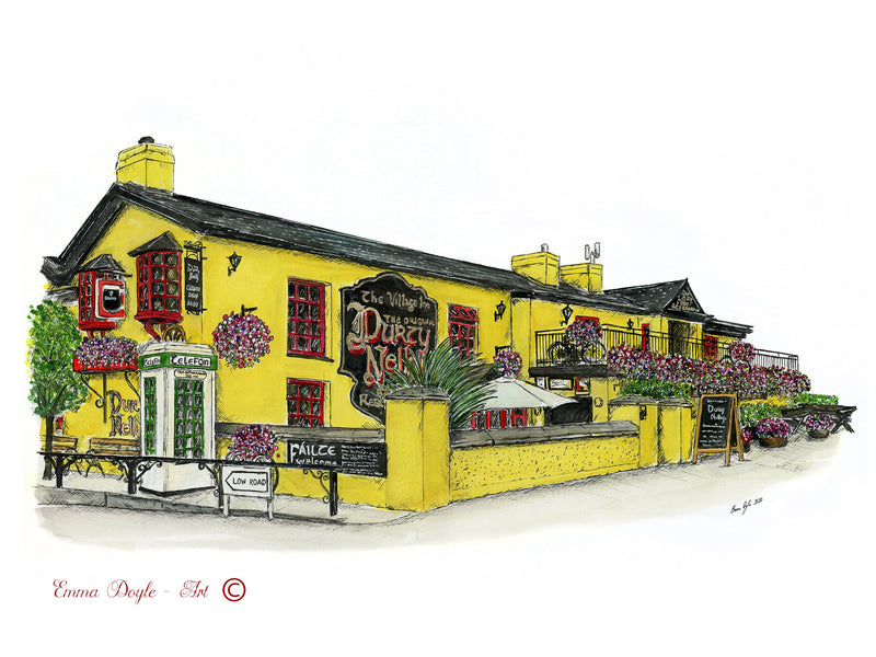 Irish Pub Print - Durty Nellys, Bunratty, Co. Clare , Ireland