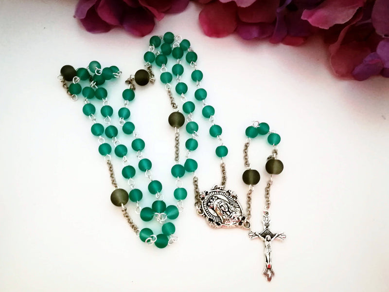 Seablue and Grey Rosary