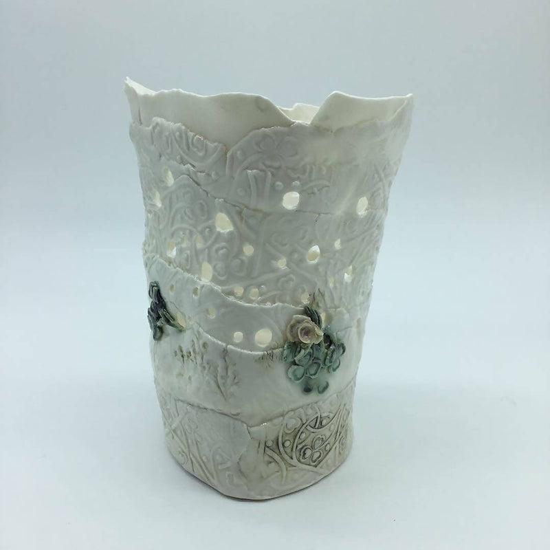 Ripped porcelain vessel