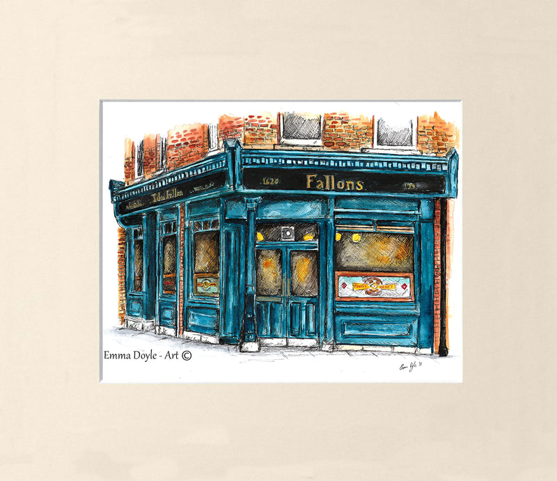 Irish Pub Print - Fallon's, Dublin, Ireland