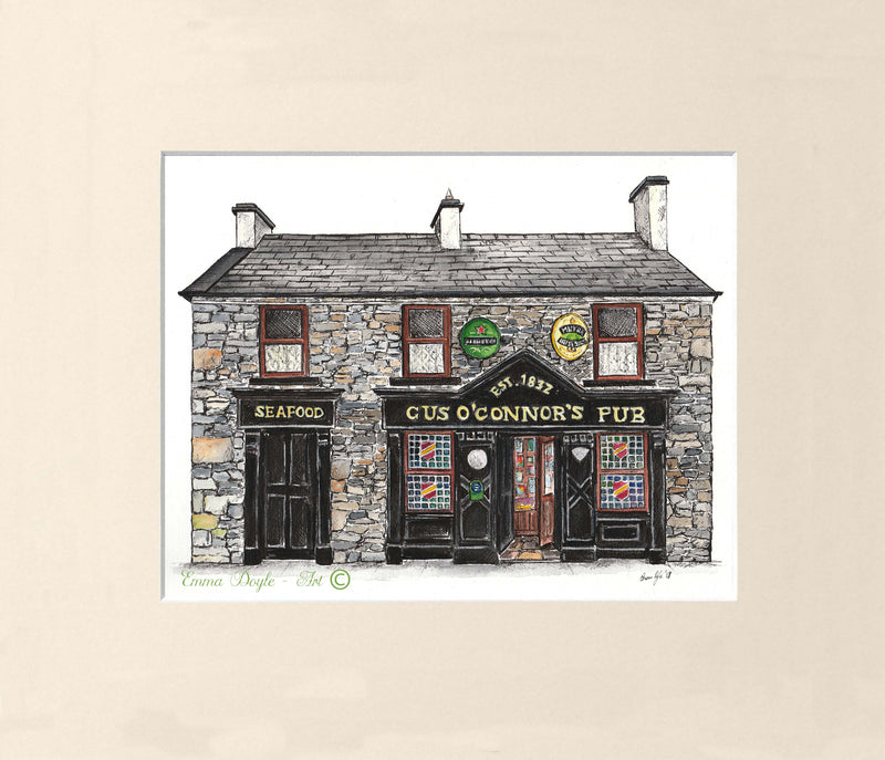 Irish Pub Print - Gus O'Connor's Pub, Doolin, Co. Clare, Ireland