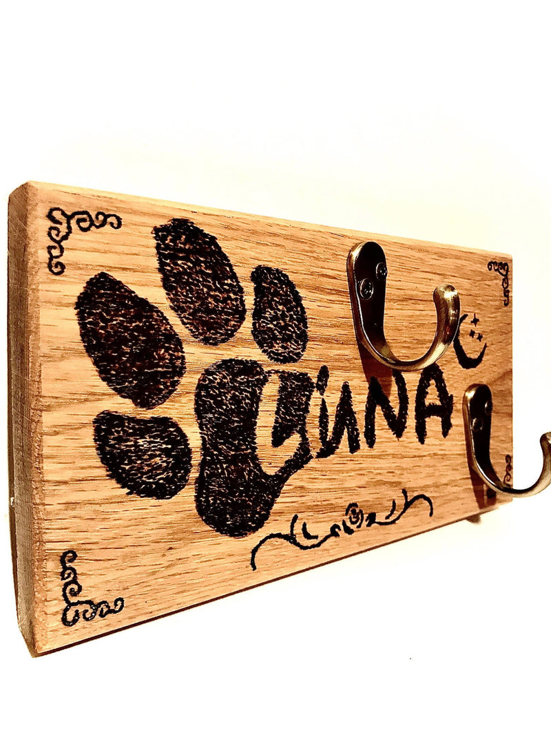 Personalised Hardwood Dog Lead Hanger