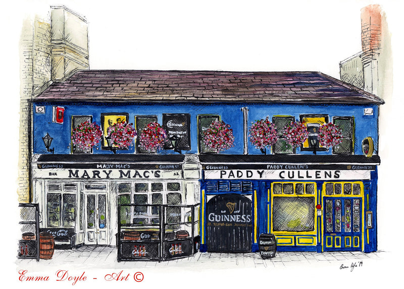 Irish Pub Print - Mary Mac's & Paddy Cullen's, Dublin, Ireland