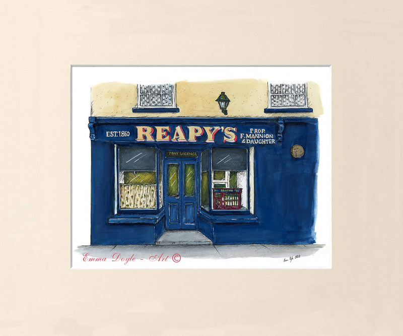 Irish Pub Print - Reapy's Bar, Tuam, Co. Galway , Ireland