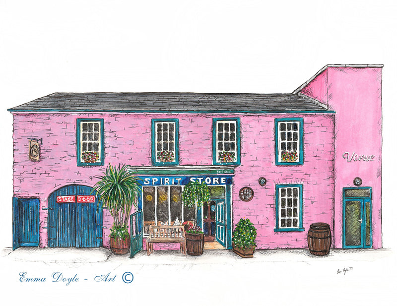 Irish Pub Print - Spirit Store, Dundalk, Co. Louth , Ireland