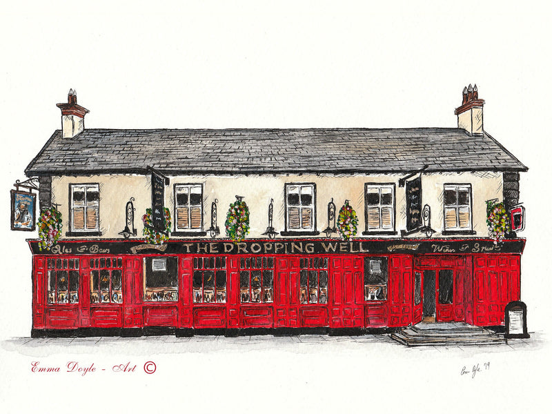 Irish Pub Print - The Dropping Well, Rathmines, Dublin, Ireland