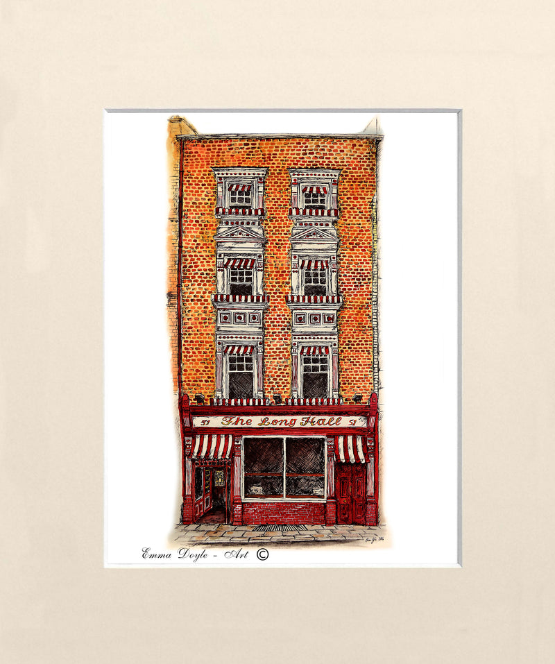 Irish Pub Print - The Long Hall, Dublin, Ireland