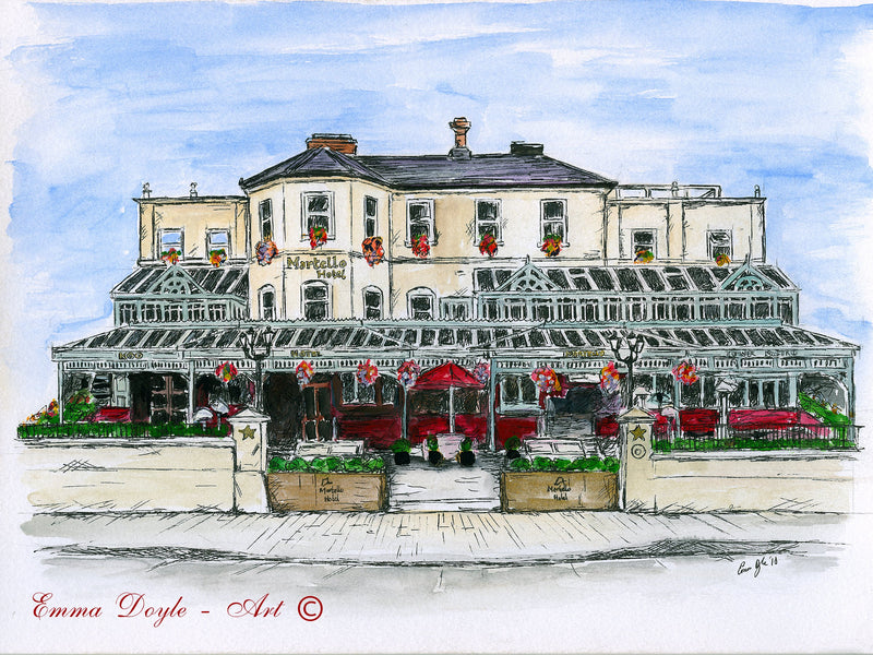 Irish Pub Print - The Martello, Bray, Co. Wicklow, Ireland