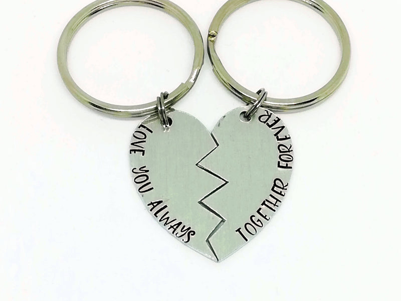 Love you always - Together Forever - Twin Keyring
