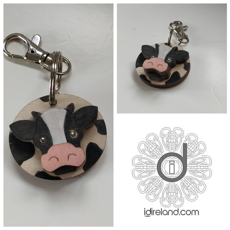 Lucky Cow Keyring