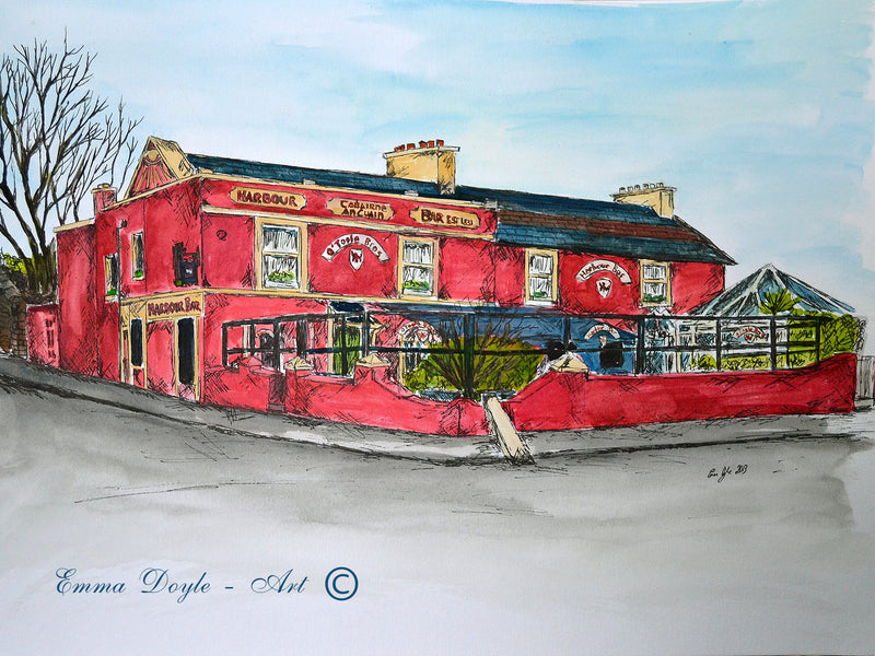 Irish Pub Print - The Harbour Bar, Bray, Co. Wicklow, Ireland