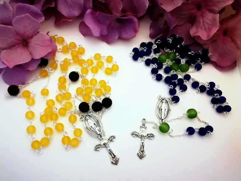 Yellow and Black Rosary