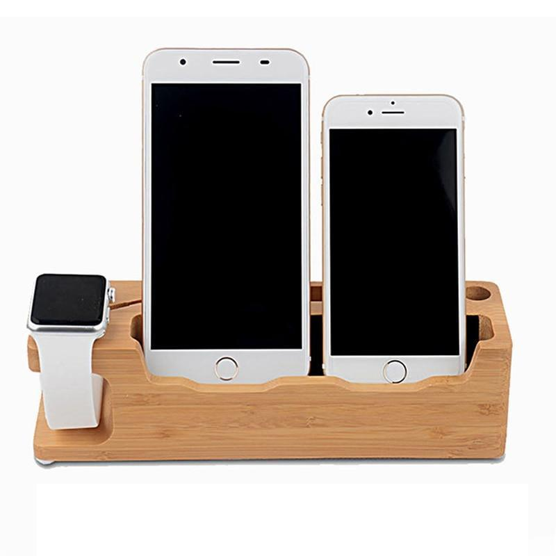 Wooden Charging Station Apple/Samsung