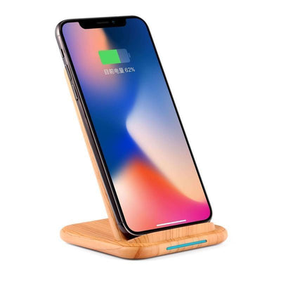Wooden Qi Fast Wireless Charger Stand
