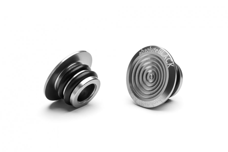 ABSOLUTE BLACK ALUMINIUM BAR PLUGS