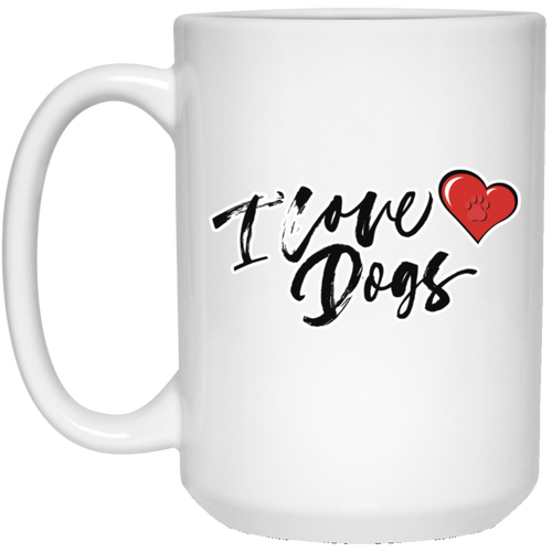 I Love Dog w/ Heart 15 oz. Mug