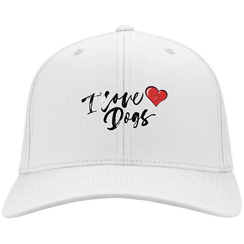 I Love Dogs w/ Heart Cap